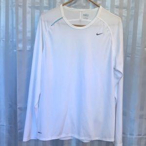 Nike Fit Dry white long sleeves medium tee shirt